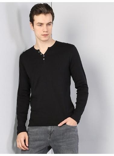 Colin's V Yaka T-Shirt Siyah